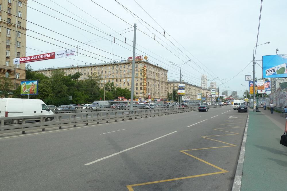 Ленинградское шоссе, Москва, фото 2011 года